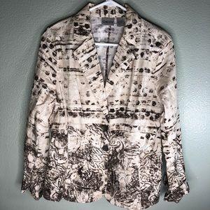 Chicos blazer jacket women size 2 beautiful color